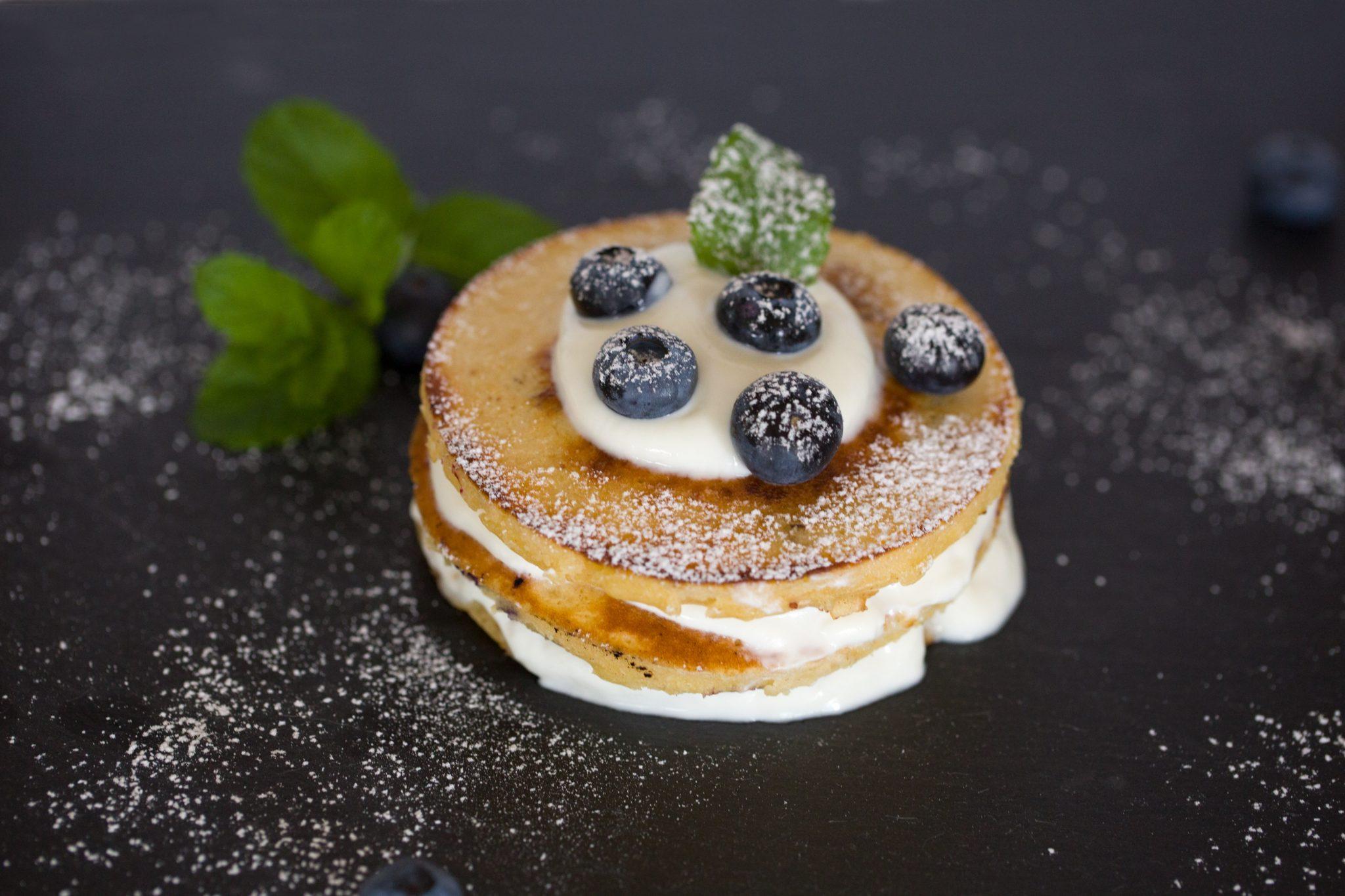 Blueberries pancakes
