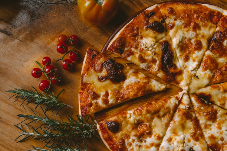 Pizza and rosemary